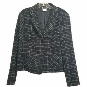 Studio Y Women Size 12 Black & White Blazer